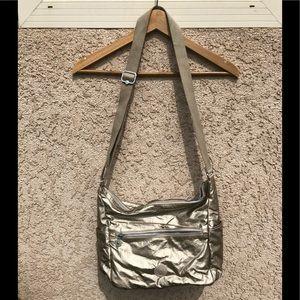 Kipling Gold Metallic crossbody bag, EUC